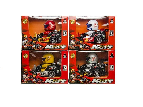 go-cart en big head racer 15.5x13x21.5cm