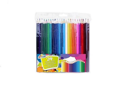 set van 24 kleurpotloden