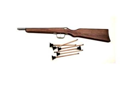 houten pijltjes geweer 56cm met pijlen
