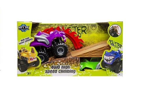 monstertruck stuntset in doos 32x14x17cm
