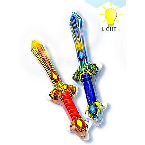 opblaas zwaard met licht
