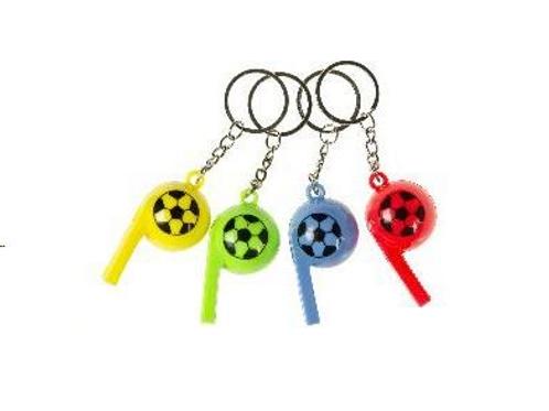 sleutelhanger fluit voetbal 6cm