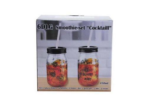 set van 2 smoothie, cocktail bekers in doos