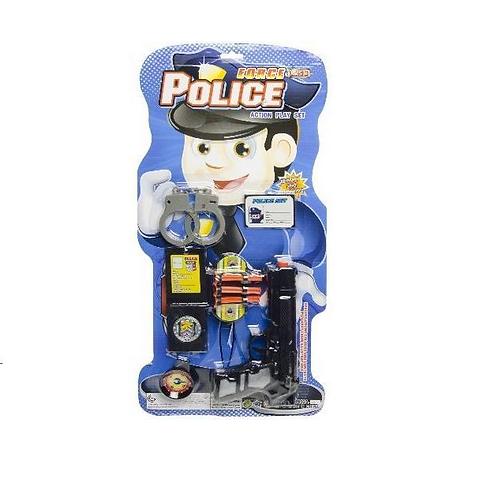 politie set op kaart 52.5x25.5cm