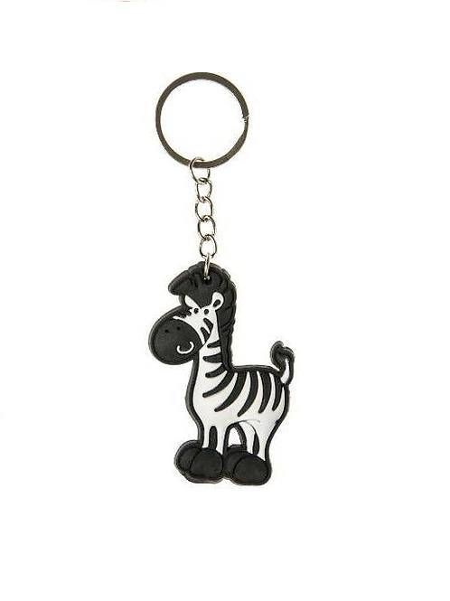 sleutelhanger zebra 6.5x4.5cm