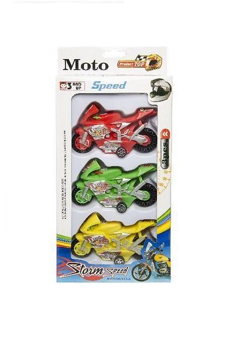 set van 3 moto in doos 14x26.5x5cm