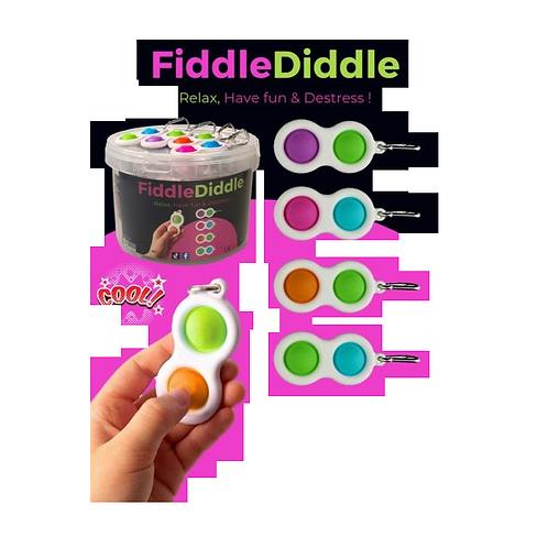 bubble pop-it dobbit fiddle diddle sleutelhanger