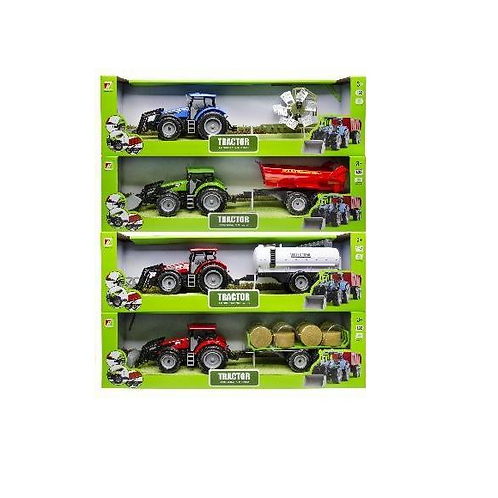 traktor in doos 52x15.5x11cm