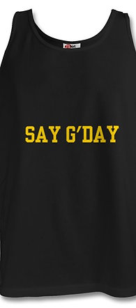 Say G'day Black Men's Vest/Tank Top
