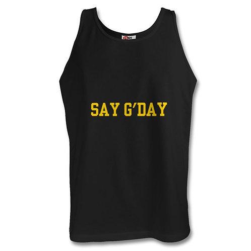 Say G'day Black Men's Vest/Tank Top