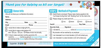 Pledge Card screenshot