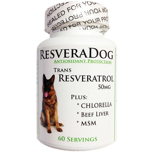 ResveraDog: Resveratrol Anti Aging Formula Powder for Dogs