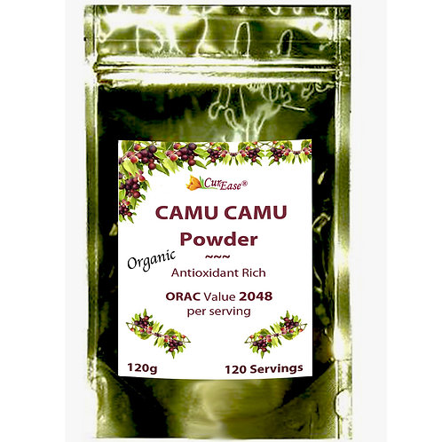 NEW Organic Camu Camu Powder Natural Vitamin C, Freeze Dried, GMO Free, Kosher