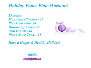 Holiday Paper Plate Workout!