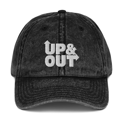 UP&OUT Vintage Cotton Twill Cap