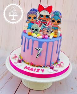 LOL Doll Drip Cake