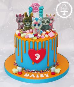 TY Teddy 9th Birthday Cake