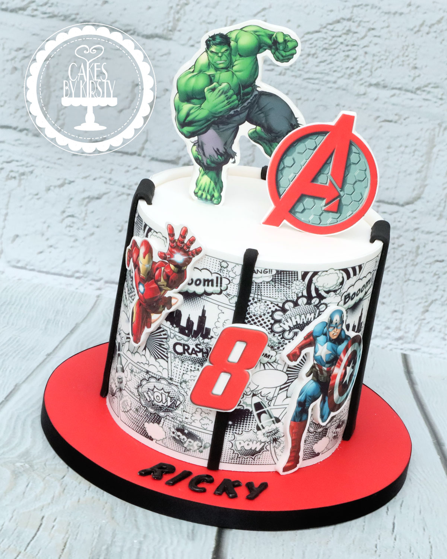 20201127 - Avengers Comic Book Cake