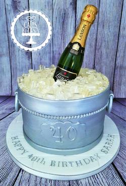 Champagne Ice Bucket Cake