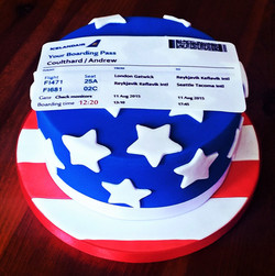 Travelling to America Cake