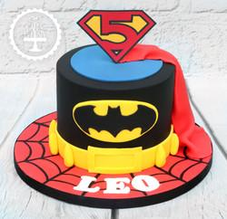 20191108 - Superhero 5th Birthday Cake