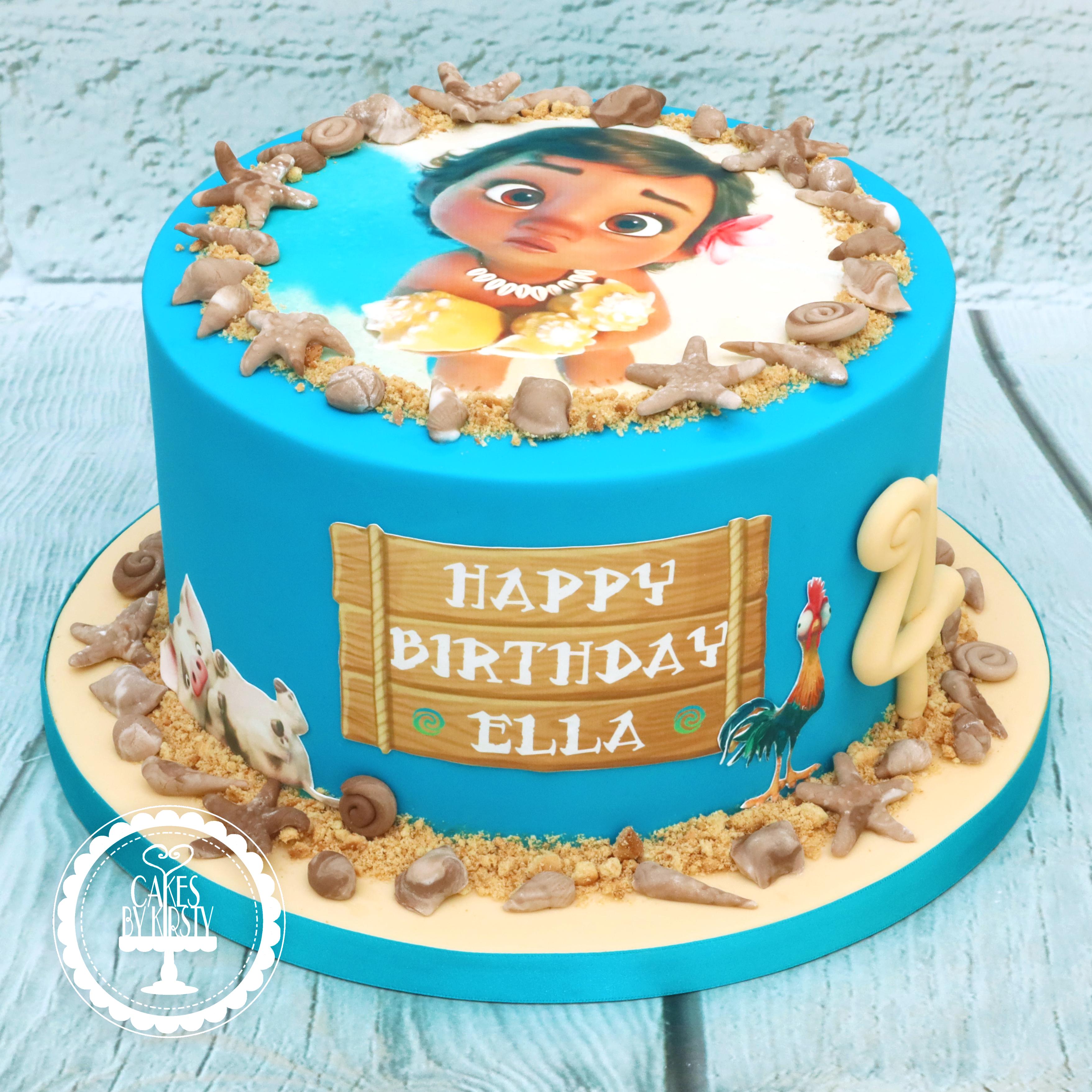 20190914 - Baby Moana 4th Birthday Cake