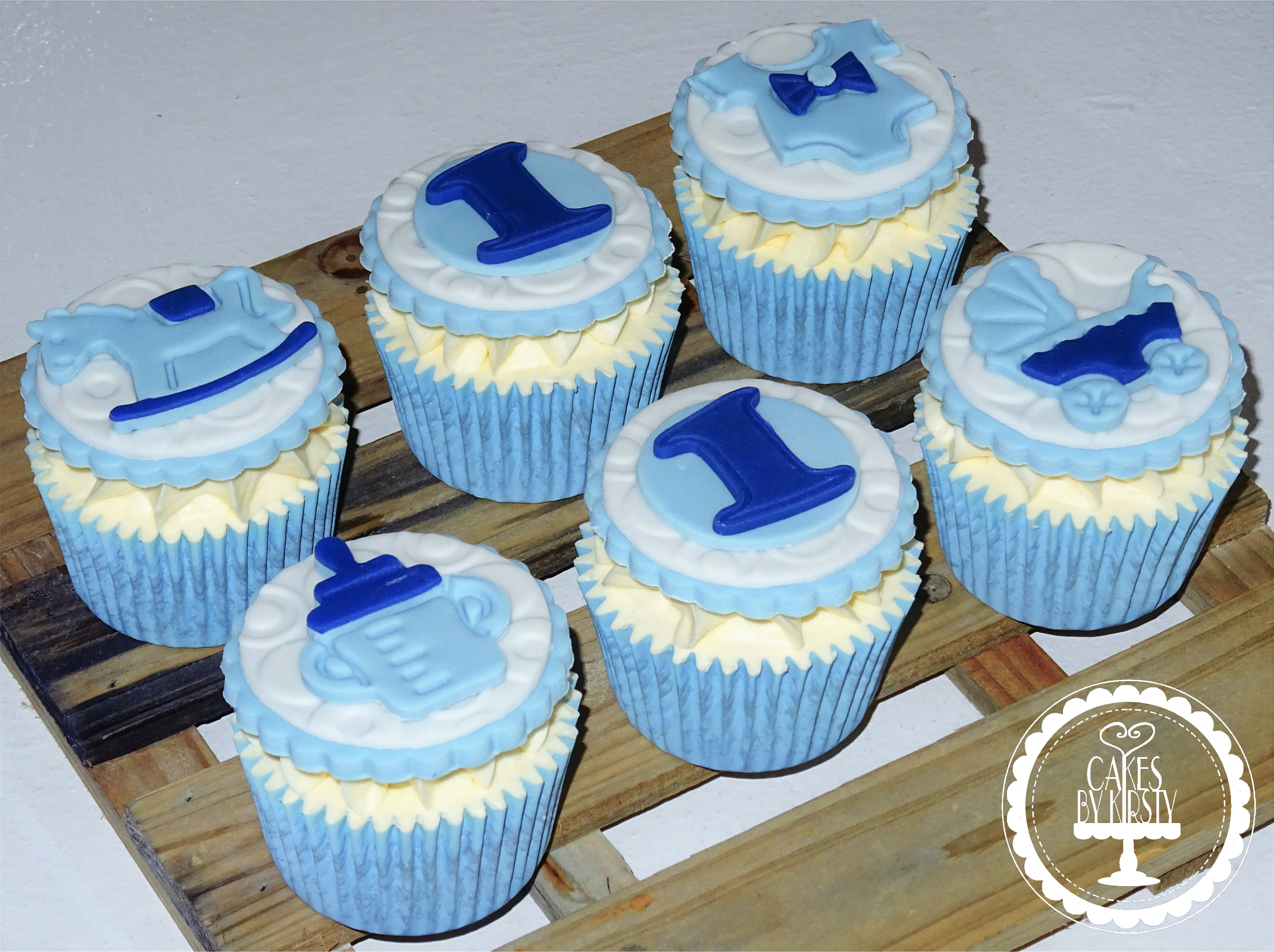 Baby Boy 1st Birthday Cupcakes