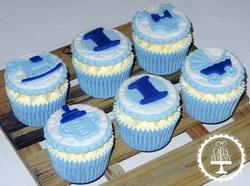Baby Boy 1st Birthday Cupcakes
