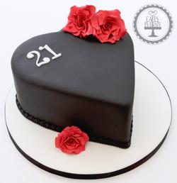 20190711 - Black Heart 21st Birthday Cak