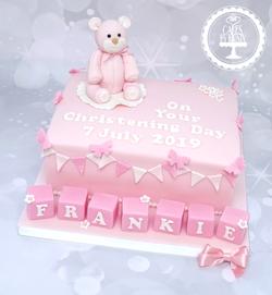 20190707 - Teddy Bear Christening Cake