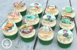 20210208 - Dino Rescue Paw Patrol Cupcakes