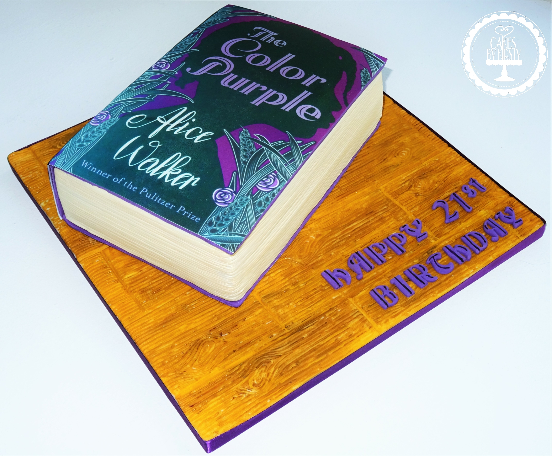 Color Purple Book Cake