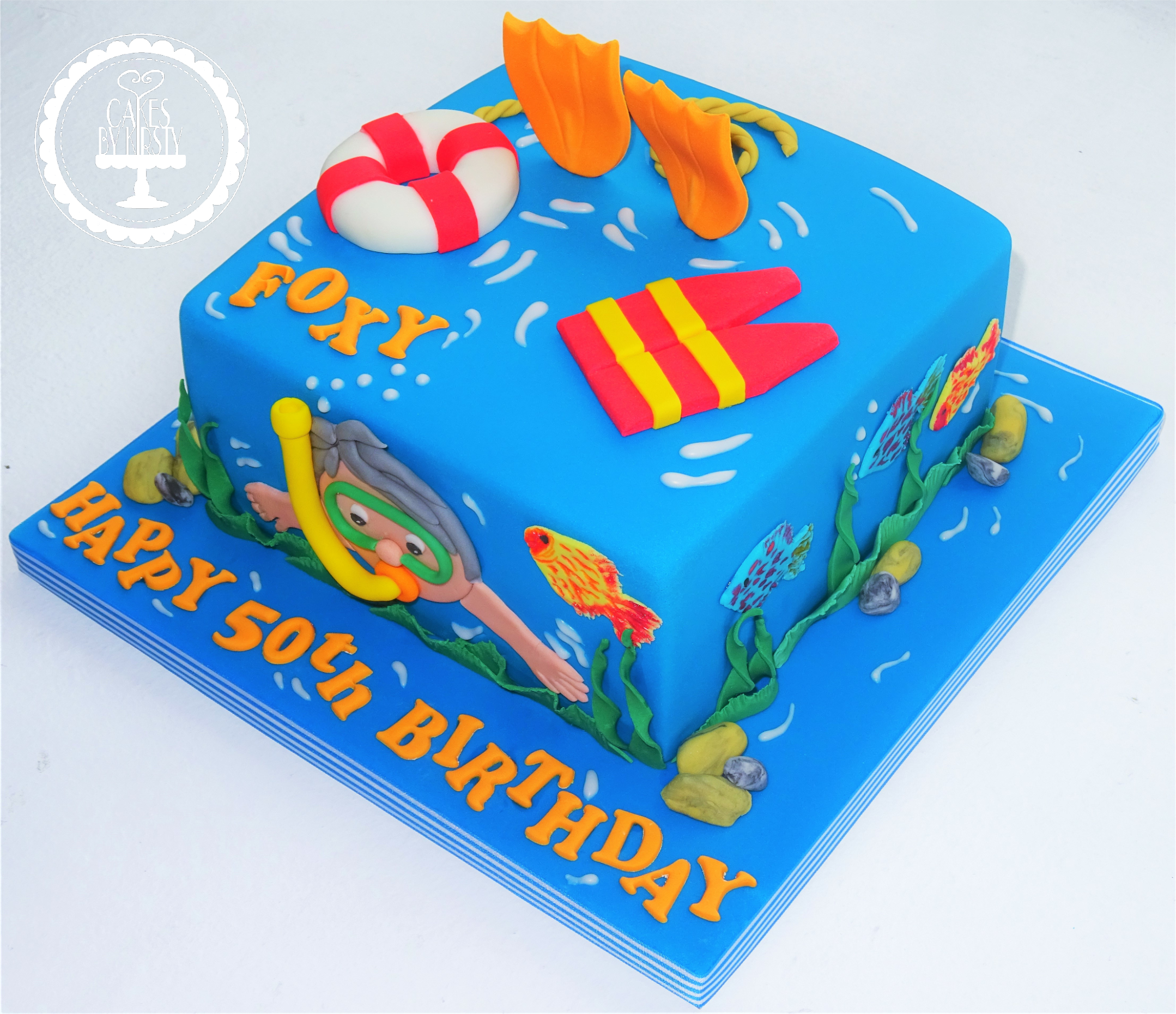 Swimming/ Scuba Diving Cake