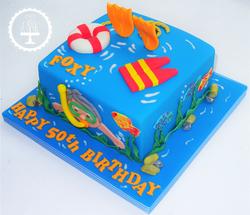 Swimming/ Scuba Diving Cake