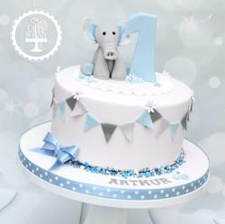 20191103 - Elephant 1st Birthday Cake