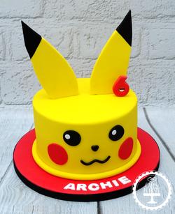 Pikachu (Pokemon) 6th Birthday Cake