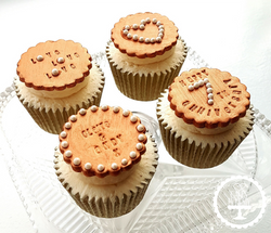 Copper Anniversary Cupcakes