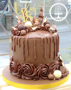 18th Birthday Chocolate Drip Cake
