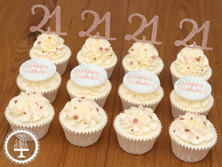 20210130 - Rose Gold 21st Cupcakes