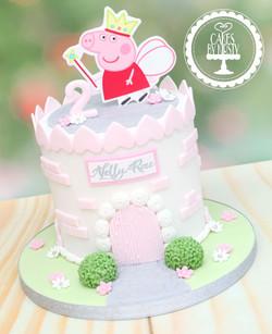 20210109 - Peppa Pig Castle Cake