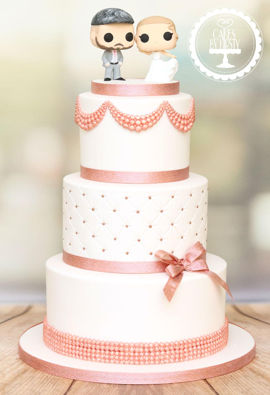 20191005 - Rose Gold Wedding Cake