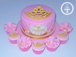 Princess Tiara Cake & Cupcakes