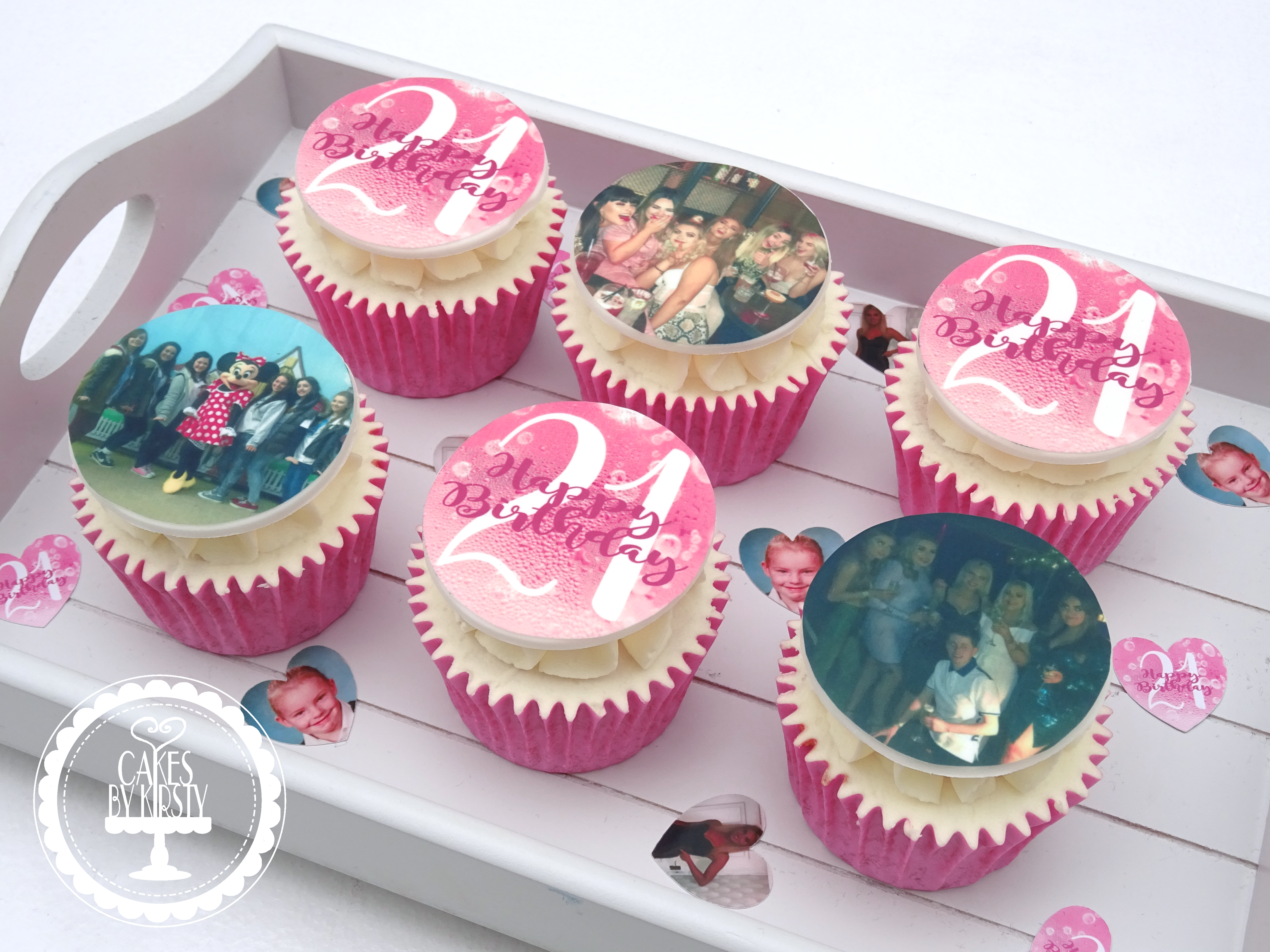 21st Edible Image Cupcakes