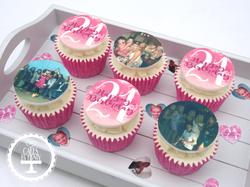 21st Edible Image Cupcakes