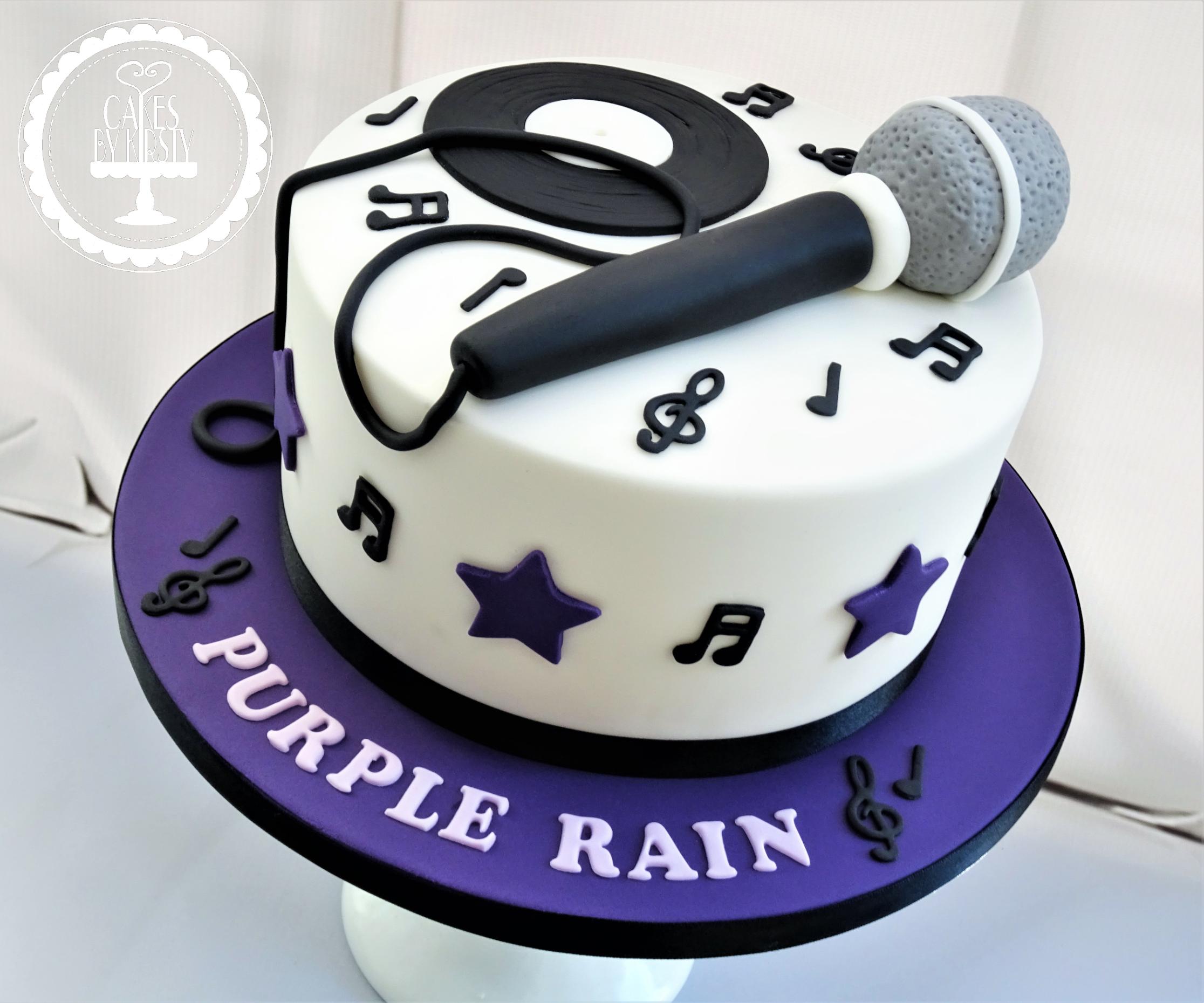 Purple Rain Karaoke Cake