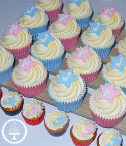 Star Christening Cupcakes