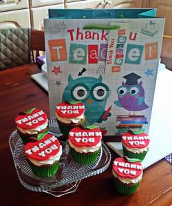 Thank you Teacher Cupcakes