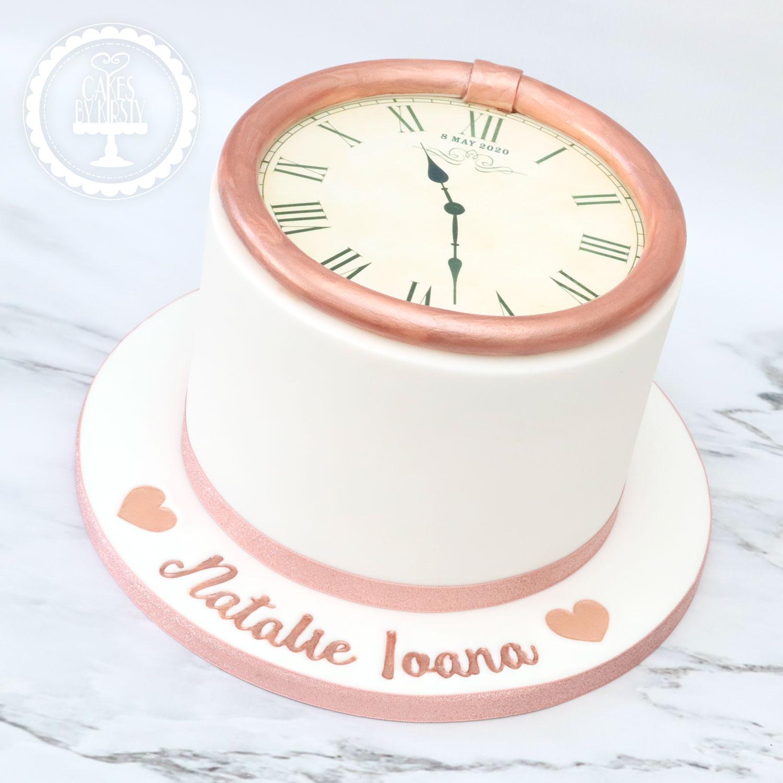 20200925 - Clock Christening Cake