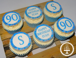 90th Birthday Cupcakes