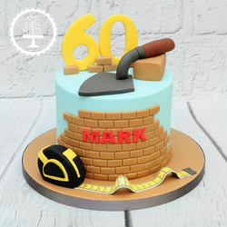 20191220 - Bricklayers 60th Birthday Cak